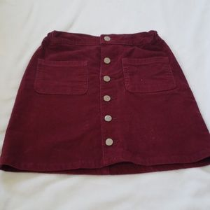 Girl's Red Jean Skirt
